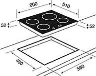 k chenbauer shop induktions cerankochfeld gkst60i4. Black Bedroom Furniture Sets. Home Design Ideas