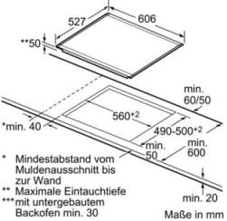 Induktions - Kochstelle Glaskeramik PIB675N24E